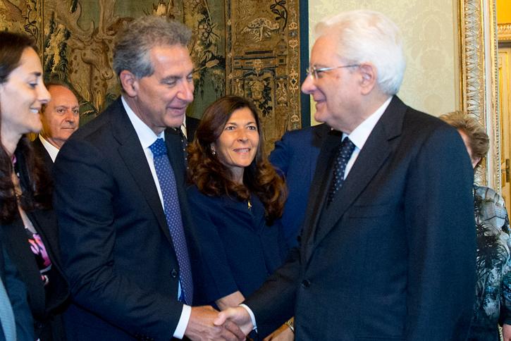 Pierluigi Mantini con il Presidente della Repubblica Mattarella